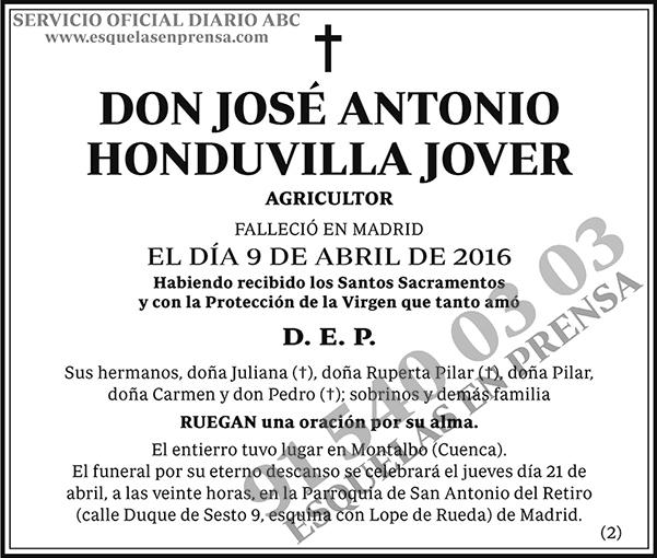 José Antonio Honduvilla Jover